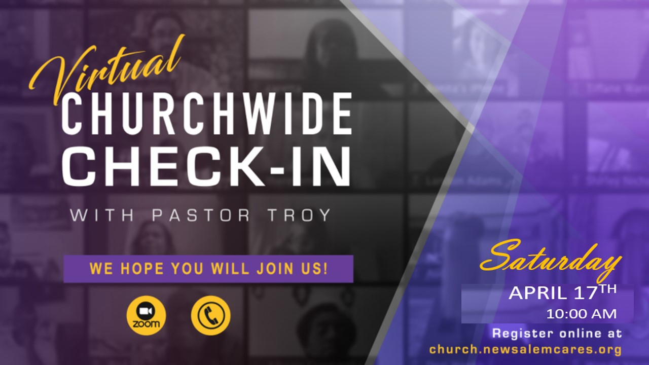 April 17th Churchwide Check-in