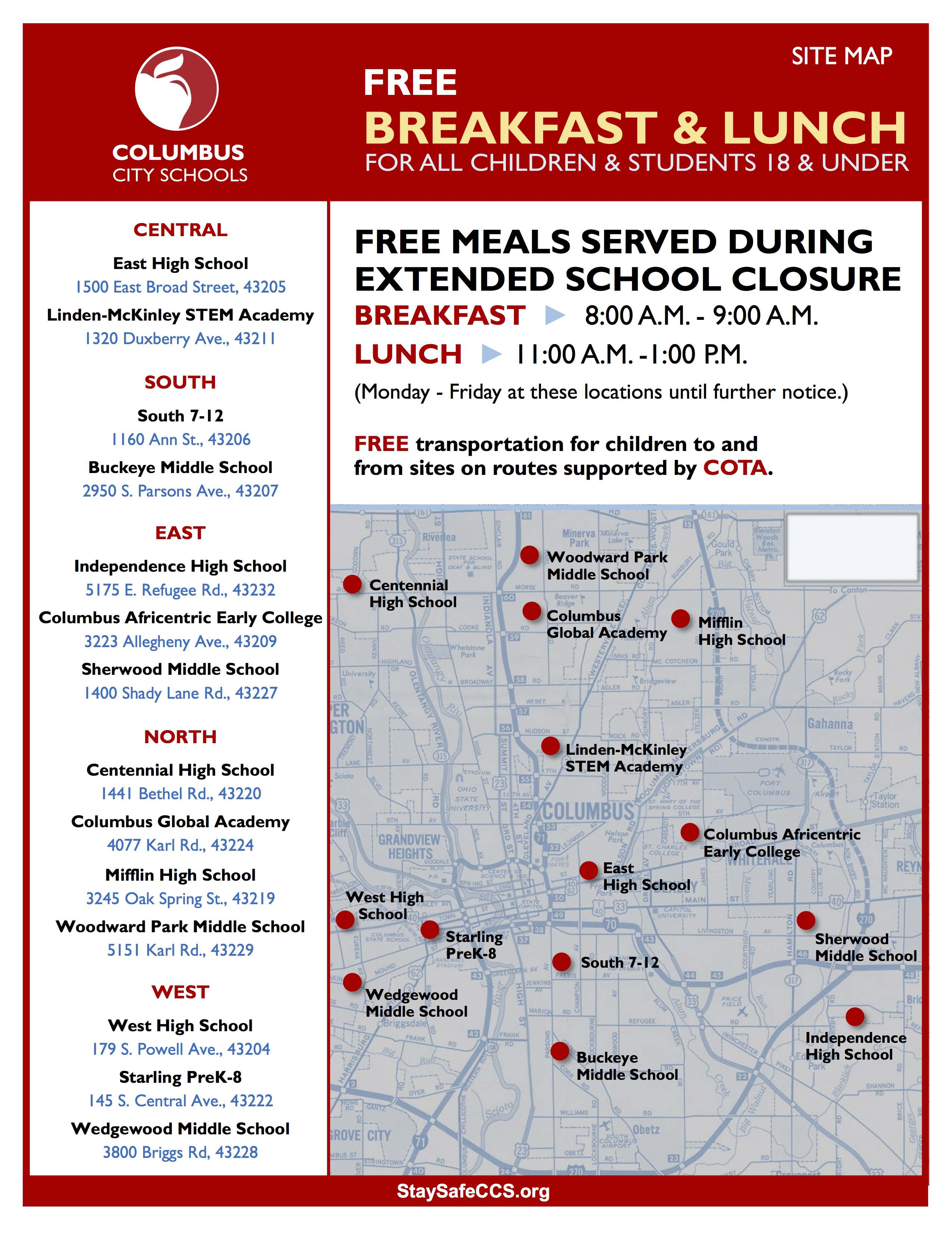 Columbus City Schools Meal Distribution