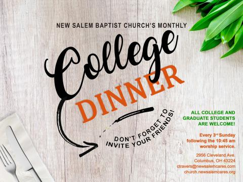 Monthly College Dinner